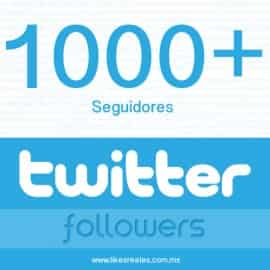 Paquete 1000 seguidores Twitter