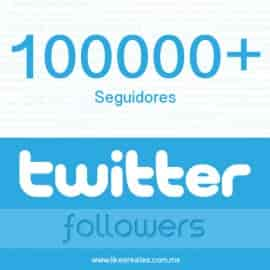 Paquete 100000 seguidores Twitter
