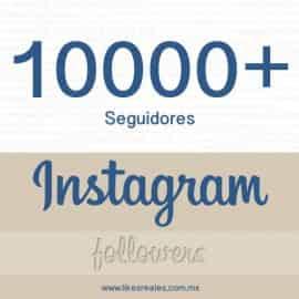 Paquete 10,000 seguidores Instagram
