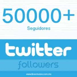 Paquete 50000 seguidores Twitter