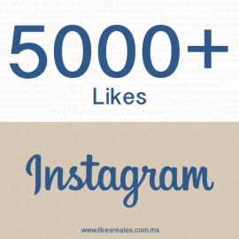 Paquete 5,000 likes Instagram