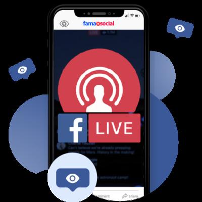 comprar espectadores facebook live